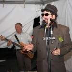Joe Conkwright emceed THE 200, and his band, Mojo Tones, played before the raffle began.