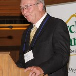 Mike Carter speaks at the luncheon after his company, Lynn Imaging, was named the 2012 Small Business of the Year.