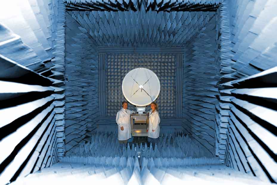 Among the special facilities built into Space Science Center at Morehead State University is an anechoic chamber where electromagnetic waves do not reflect for testing satellites systems and other devices the Kentucky Space program builds.