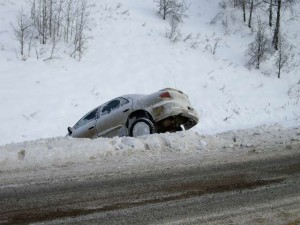 If your vehicle is stranded or wrecked but not in the roadway, attempts to recover your vehicle will have to wait until conditions improve for safety considerations.
