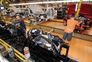 Ford Motor Co. added some 1,300 workers last fall when the company added a third shift at its Louisville Assembly Plant, where it is producing the new Ford Escape.
