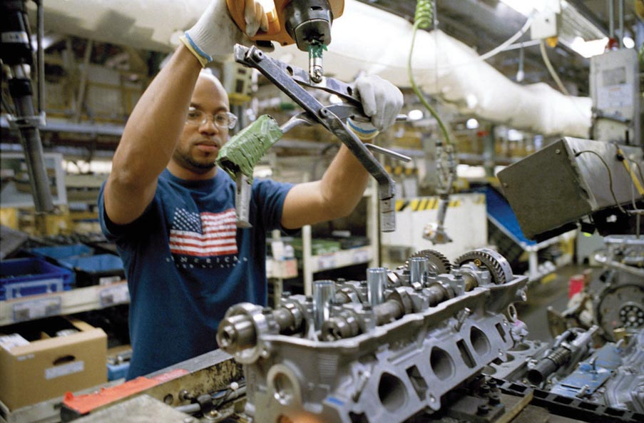 More than 6,600 employees at Toyota Motor Manufacturing – Kentucky in Georgetown build 4-cylinder and V6 engines in addition to the Camry, Hybrid Camry, Avalon, Hybrid Avalon and Venza vehicles.