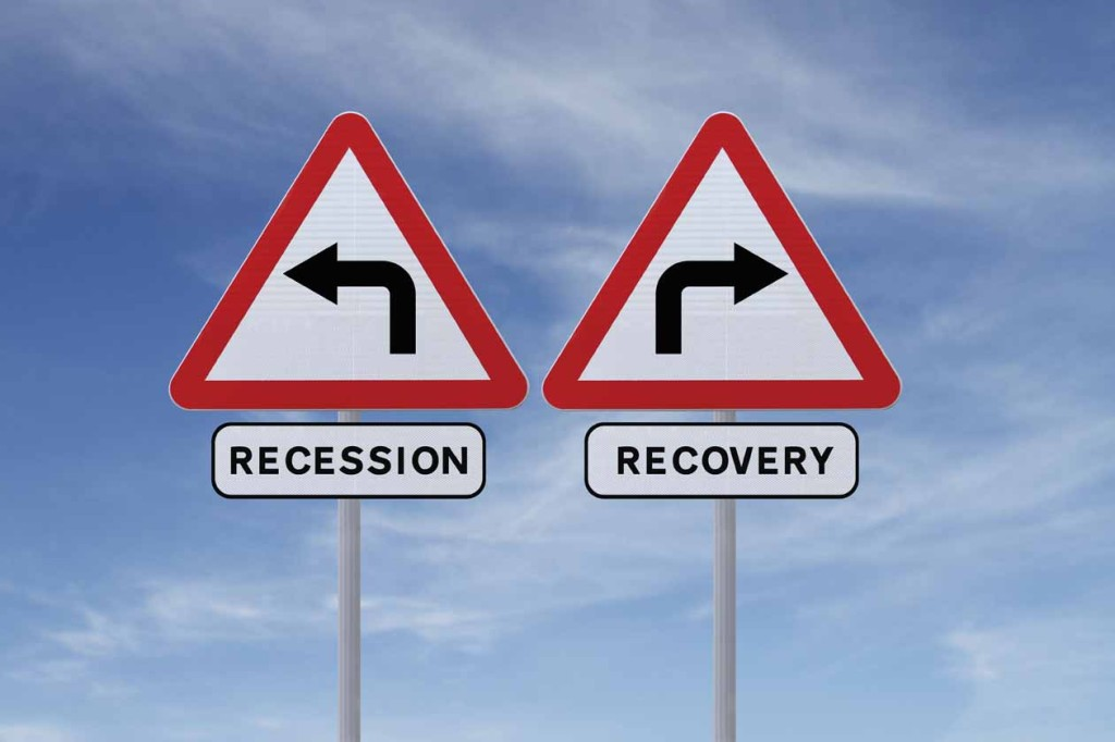 Recovery Recession signs_119853268