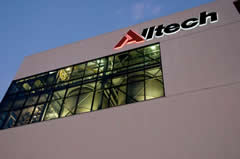 Heterotrophic algae are grown at Alltech Algae in Winchester, Ky., in the eight-story tall stainless steel tanks visible through the windows.