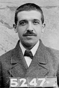 Charles Ponzi, shown in this 1910 police mugshot, is the namesake of the scheme.
