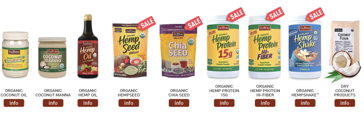 Some of Nutiva's hemp products are shown here.