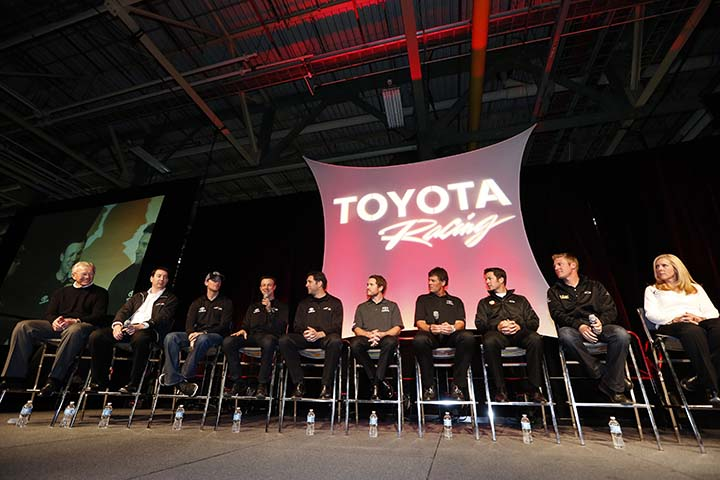 NASCAR drivers and Kentuckians Darrell and Michael Waltrip visited the Bluegrass Wednesday for a rare, preseason appearance at Toyota's Georgetown, Ky., plant. They concluded their visit by participating in a special Q&A session for the plant's team members.