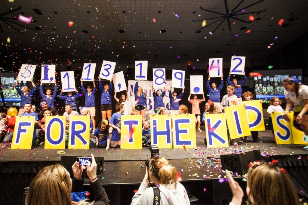 DanceBlue raised more than $1 million this past weekend. (Photo by Sabrina Hounshell)