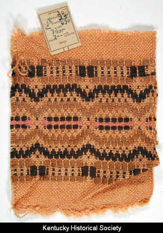 A swatch from the Churchill Weavers collection. (Image courtesy of the Kentucky Historical Society)