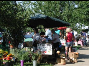 For the second year in a row, Oldham County was ranked the healthiest county in Kentucky. Here, Oldham residents visit the La Grange farmer's market, in the photo by discoverlagrange.com