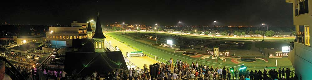 Many Downs After Dark events have a theme. The racetrack staff sets mood lighting from the Grand Stand, serves food and drinks related to the theme, and encourages guests to dress up accordingly.