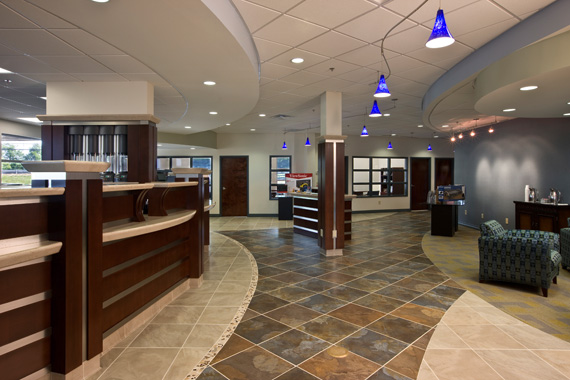 An architect's rendering of First Federal Bank of Lexington's Hamburg location.