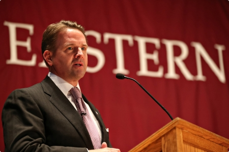 Michael T. Benson recently was selected as the new president of EKU. He will receive a $400,000 salary plus benefits. (Photo courtesy of EKU)