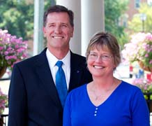 Berea College on Saturday will host the inauguration of its ninth president, Dr. Lyle Roelofs, shown here with his wife Lauren.