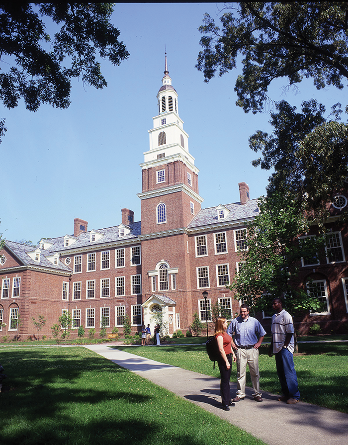 Draper Hall, the main classroom building at Berea College, is modeled after Independence Hall in Philadelphia.