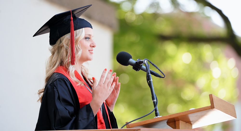 Transylvania University Class of 2013 member Hannah Johnson was the student speaker at Saturday's commencement.