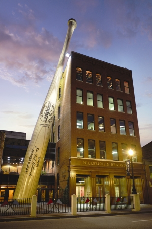 The Louisville Slugger Museum is located in the Bourbon, Horses and History region, which had the most tourism spending in 2012.