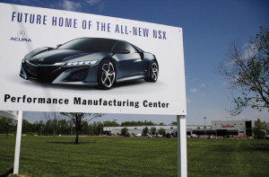 Marysville, Ohio, has been selected as the site for a new advanced manufacturing plant that will produce the Acura NSX.