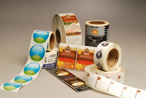 An example of flexographic labels similar to those printed at Focus Printing Solutions in Franklin, Ky.