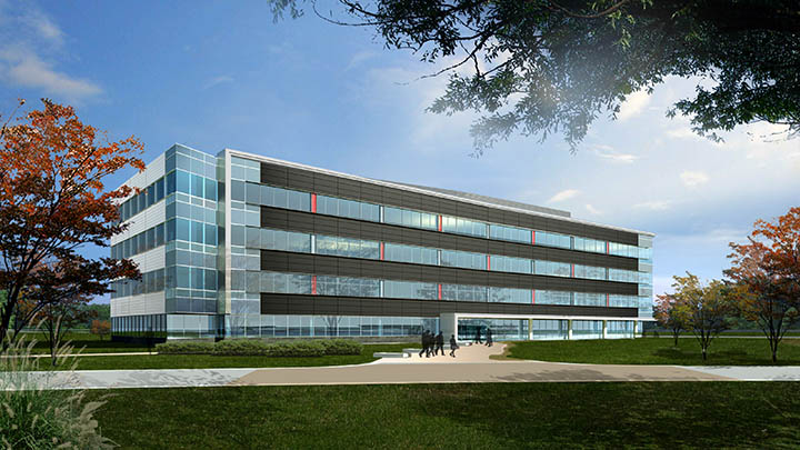 An artist's rendering of the second building at UofL's Shelby Campus.