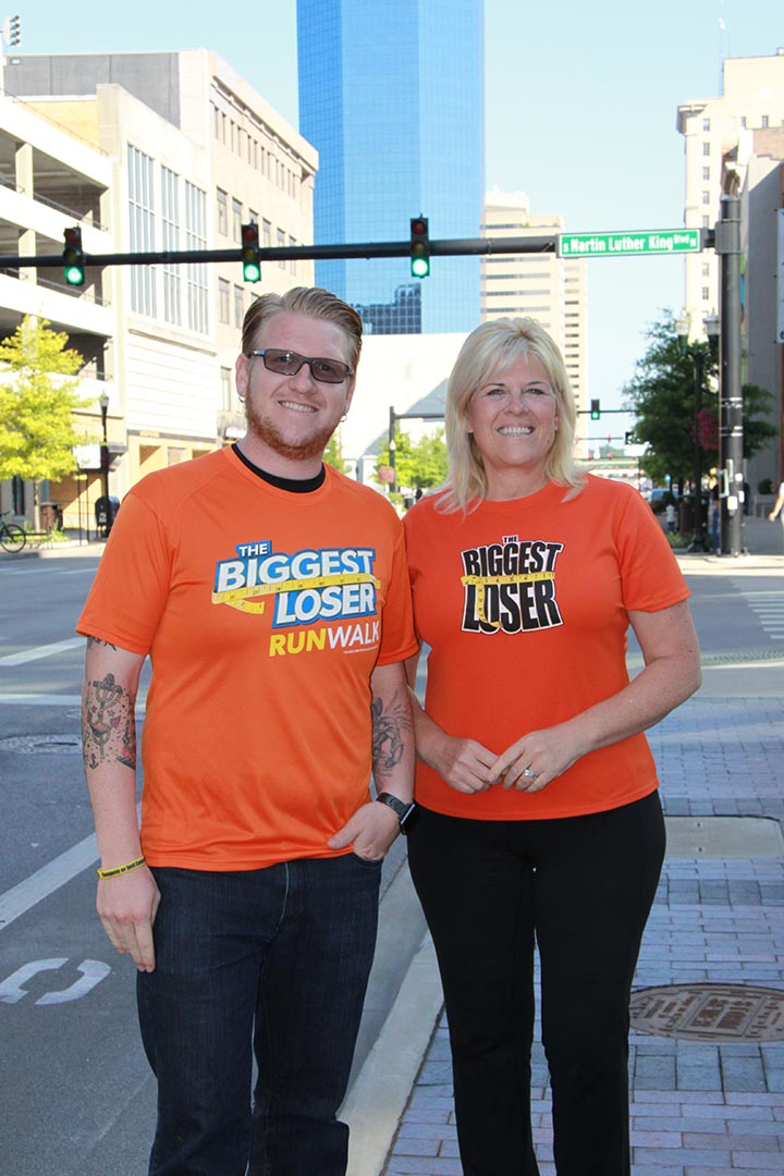 """Jackie Evans and her son Dan lost a combined 225 pounds on the reality television show """"The Biggest Loser."""" They organized The Biggest Loser RunWalk series, which will host a race in Lexington on Nov. 2."""