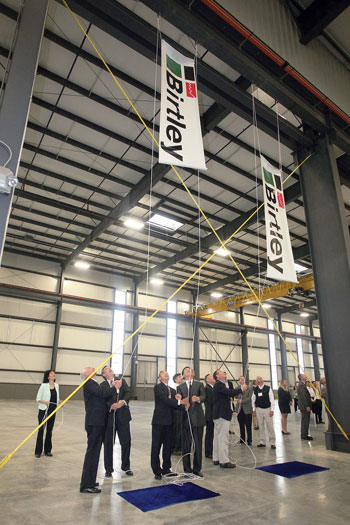 Birtley, Kentucky's first Chinese-owned manufacturer, celebrates the grand opening of its new 67,500-s.f. facility at Blue Grass Business Park in Lexington.