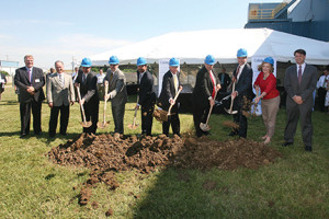 Construction is now under way on a $35 million project that will nearly double the size of Catalent Pharma Solutions' facility in Winchester.