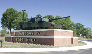 Fort Knox's military population is approximately 14,000, but the post's total population is more than 75,000 when civilian workers and families are counted. Fort Knox is a certified Kentucky city, covering 109,054 acres in three Kentucky counties. (Fort Knox photo)