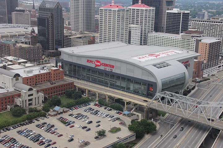 The KFC Yum Center in downtown Louisville is ranked 14th in the nation for ticket sales, according to Pollstar Magazine. (Lane Report photo)