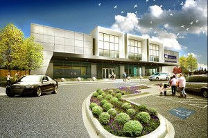 An artist's rendering of the HealthFirst building on Southland Drive.
