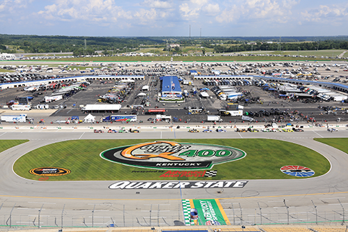 The Quaker State 400 race at Kentucky Speedway in late June brings major league sports action and its multiple levels of marketing along with more than 100,000 spectators for the NASCAR Sprint Cup series event in Sparta, Ky.