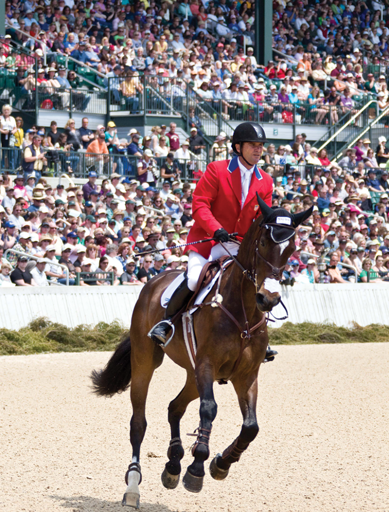 Past Olympic gold medalist Phillip Dutton and Mighty Nice compete in the 2012 Rolex Kentucky Three-Day Event at the Kentucky Horse Park. Rolex Stadium at the park seats 5,300 and is one of the top equestrian venues in the United States. (Mike McNally photo)