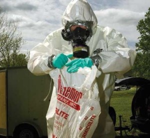 (Cleaning up a meth lab found on school property in London. Photo by Stacy Kranitz.)