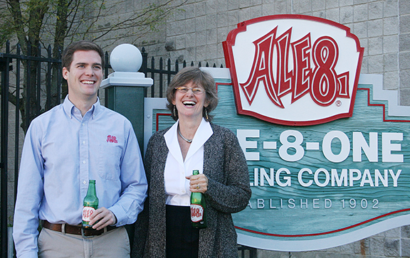 CEO Rogers Fielding and Ale-8-One's new president, Ellen McGeeney.