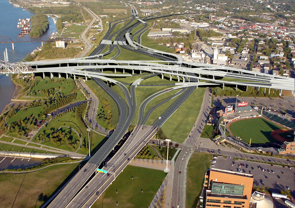 """Called """"Spaghetti Junction"""" by local motorists, the Kennedy Interchange near downtown Louisville will be reconfigured to widen sharp turns, increase the distance in merging lanes, and create an overall safer driving experience."""