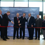 UofL and state and local officials cut the ribbon on the new downtown Nucleus building.