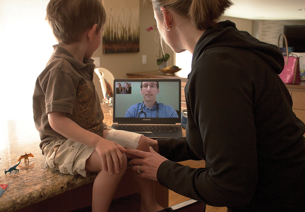 One of Kentucky's latest telemedicine products is Anywhere Care, which KentuckyOne Health launched Nov. 1. It gives users around-the-clock access to doctors and nurse practitioners for medical diagnosis, treatment planning from any Internet-connected computer with a web-cam and microphone. It costs $35 per use.