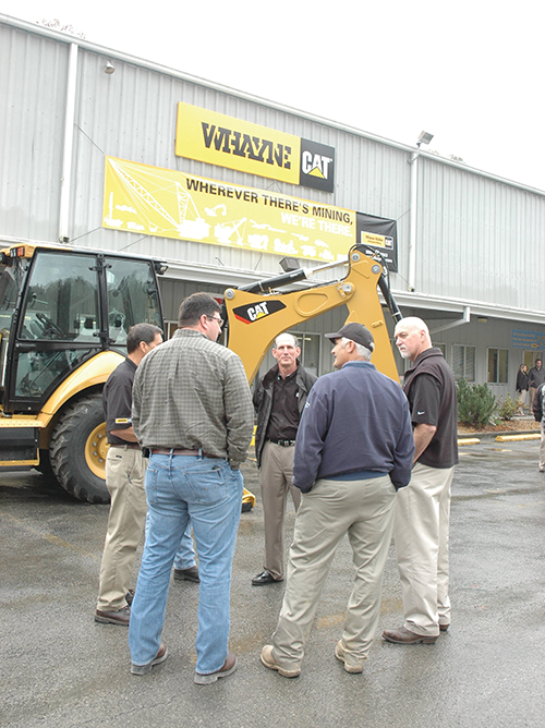 The management of Whayne Supply regularly visits the firm's 16 locations to meet with employees to discuss operations.