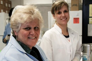 Dr. Lisa Cassis and a member of her laboratory staff.