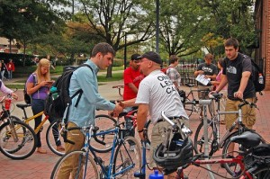 In an effort to reduce emissions caused by cars, UofL offers students, faculty or staff a $400 voucher to an area bike shop if they are  willing to forgo the right to a UofL parking permit for at least two years.