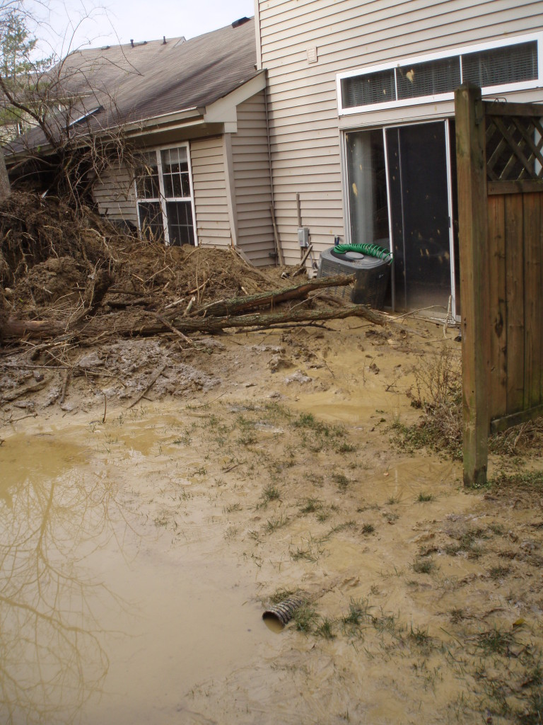 Heavy rainfall in 2011 triggered a sudden mudslide in Campbell County, Ky., seriously damaging a condominium.