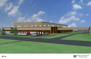 The Glenmore Distillery rendering by Gray Construction