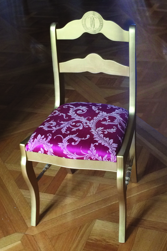 Every chair frame was handcrafted using only locally sourced and sustainable maple wood from Daniel Boone National Forest.
