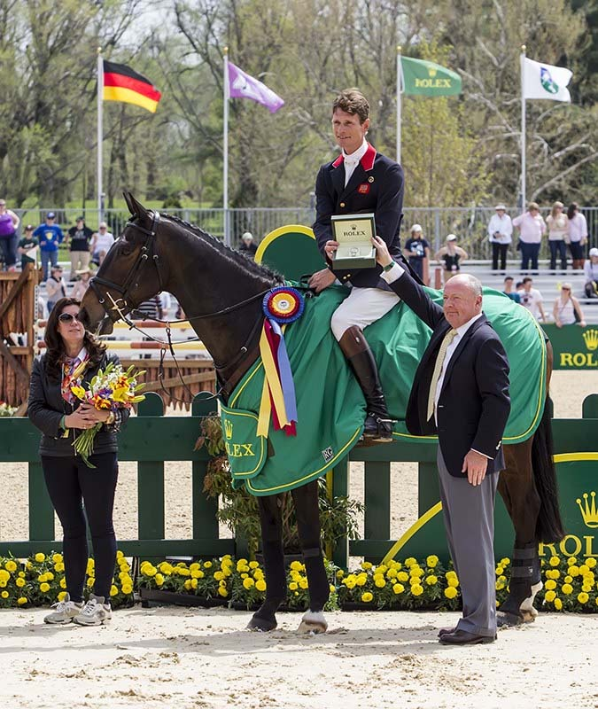 William Fox-Pitt of Great Britain this weekend won Rolex Kentucky Three-Day Event for the third time.