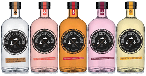 Derby City Shine moonshine flavors will include spicy apple cider, lemonade and peach mango.
