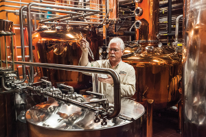 The Evan Williams Bourbon Experience offers visitors a close-up view of the distilling process. (Brian Bohannon photo)