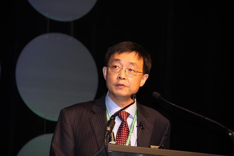 Dong Fu, senior economist for corporate planning for Exxon Mobil, spoke at the KAM Conference in Lexington.