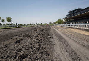 Keeneland is converting its main race track from a synthetic Polytrack material to a state-of-the-art dirt surface, with a drainage system that will be the first of its kind in North America. News reports say the Breeders' Cup will be hosted there in 2015.