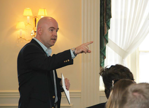 One of Aaron Miller's favorite parts of director of programs at the Leadership Louisville Center? Coordinating and presenting at Leadership Louisville's Ignite Program.