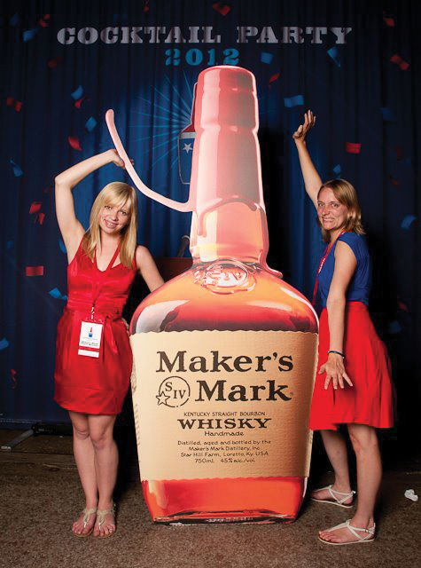 Talk about a larger-than-life bottle of Maker's. Maker's Mark's 2012 Cocktail Party provided a perfect social media opportunity for the brand.